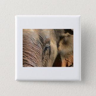 Elefant Quadratischer Button 5,1 Cm