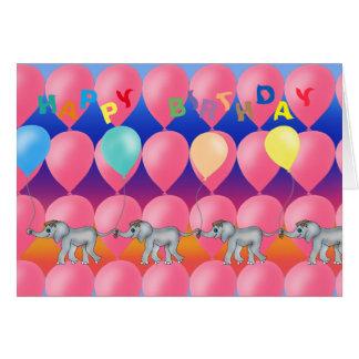 Elefant-Reihe durch Happy Juul Company Karte