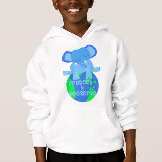Elefant retten die Erde Hoodie