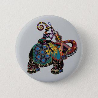 Elefant Runder Button 5,7 Cm