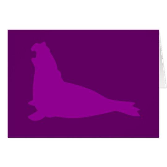 Elefant-Siegel-Karte lila Karte