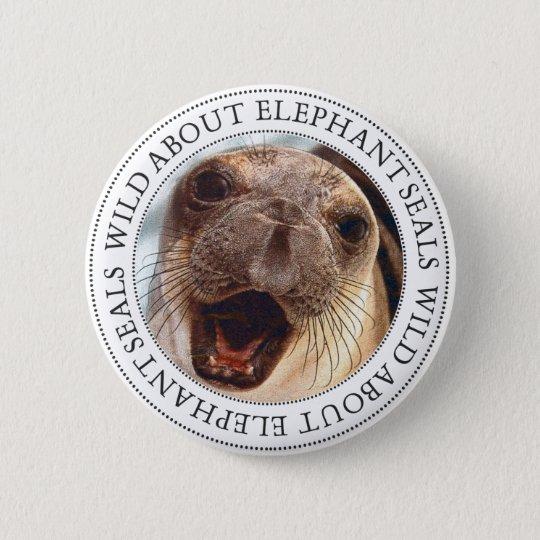 Elefant-Siegel Runder Button 5,1 Cm