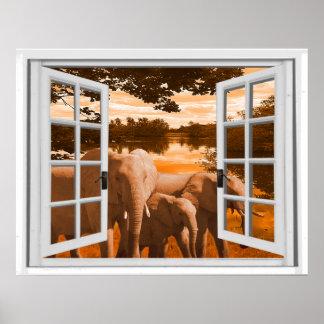 elefanten poster. Black Bedroom Furniture Sets. Home Design Ideas