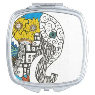 Elefant Taschenspiegel