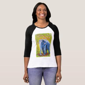 Elefant themed Raglanhülsen-Shirt T-Shirt