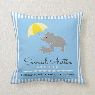 Elefant-u. Baby-u. Regenschirm-Baby-Mitteilung Zierkissen