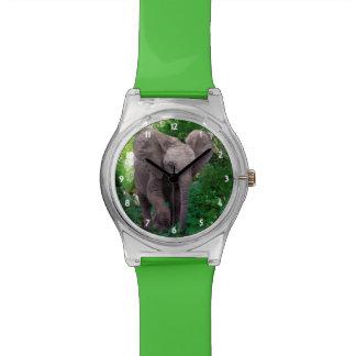 Elefant und Dschungel Armbanduhr