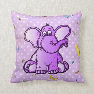 Elefant und Schmetterlinge Kissen