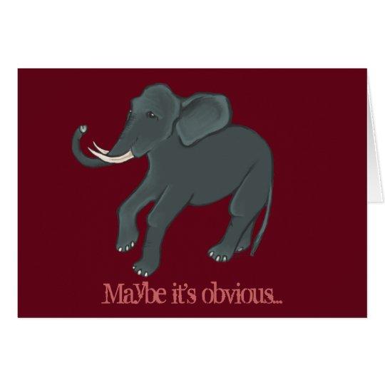 Elefant-Valentinstag-Karte Karte