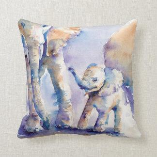 Elefant Watercolor-Wohngestaltungkissen Kissen