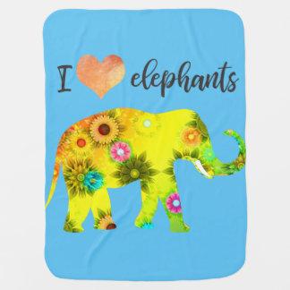 Elefanten der Liebe I Kinderwagendecke