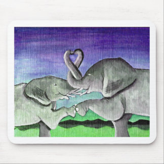 Elefanten in der Liebe Mauspad