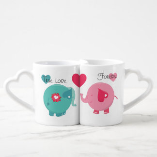 Elefanten richten Liebe-für immer Liebhaber-Tassen Liebestassen