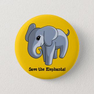 Elefanten Runder Button 5,7 Cm