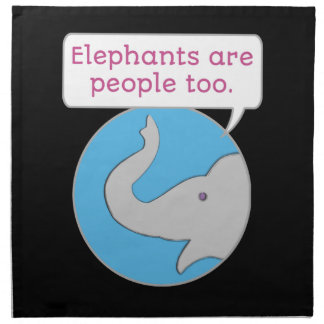 Elefanten sind Leute auch Serviette