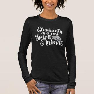 Elefanten sind mein Geisttier Langarm T-Shirt