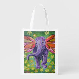 Elefantentwurfs-Taschentasche Wiederverwendbare Einkaufstasche