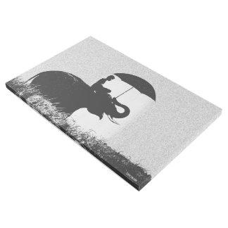 """Elefantregen Kunst 6"""" x 24"""" Galerie-Verpackung"""