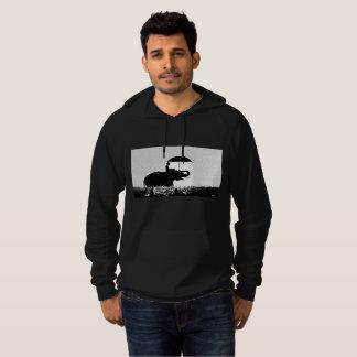 Elefantregen Kunst-Fleece-PulloverHoodie Hoodie