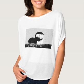 Elefantregen Kunst Flowy Kreis-Spitze T-Shirt