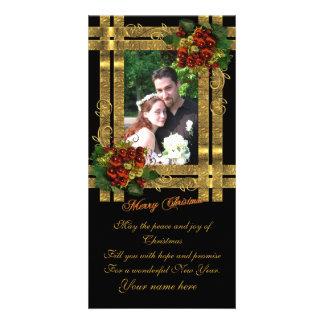 Élégance d'or de carte photo de Noël Photocarte