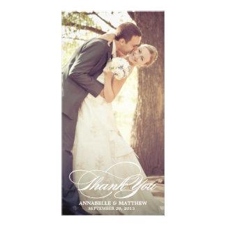 Elegant danke Script Hochzeits-Überlagerung Bildkarten