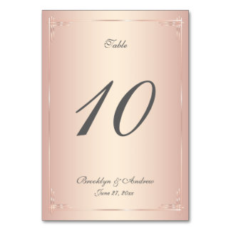 Elegant erröten Wedding Tischnummern