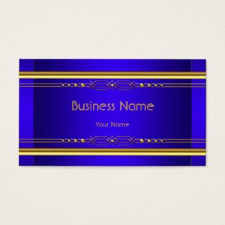 Elegant Gelbes Royal Blue Classy Gold Company Visitenkarte