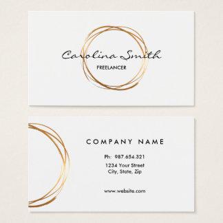 Elegant, Gold, doppelseitige Visitenkarte