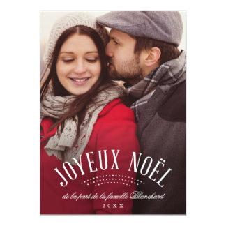 Élégant Joyeux Noël 12,7 X 17,8 Cm Einladungskarte