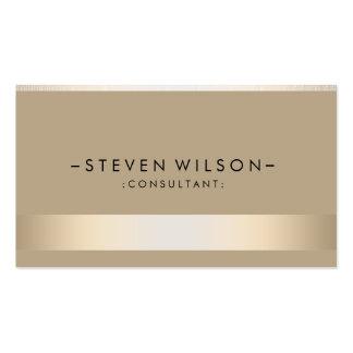 Élégant moderne professionnel en métal de feuille carte de visite standard