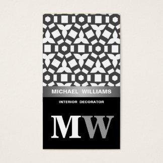 Elegant schwarzweiß visitenkarte