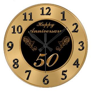 Elegante 50. Hochzeitstag-Uhren Wanduhr