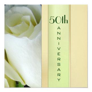 Elegante 50. Jahrestags-Einladung Quadratische 13,3 Cm Einladungskarte