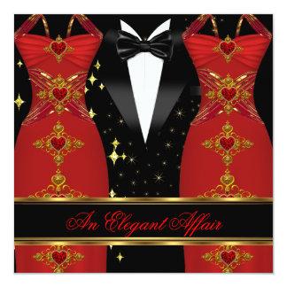 Elegante Angelegenheits-roter Quadratische 13,3 Cm Einladungskarte