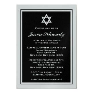 Elegante Bar Mitzvah Einladung - besonders