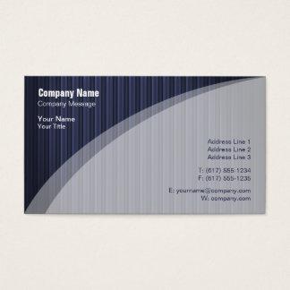 Elegante blaue gestreifte Visitenkarte