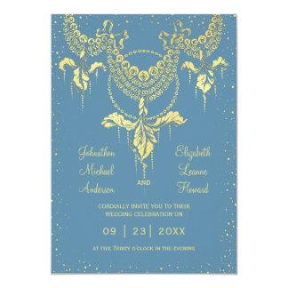 Elegante blaue karte