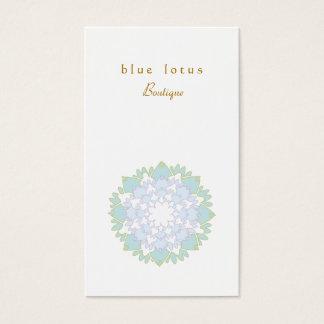 Elegante blauer Lotos-Blumen-einfache Visitenkarte