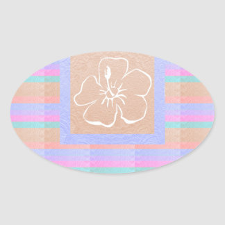 Elegante Blume Babysoft metallische Blick Farben Ovaler Aufkleber
