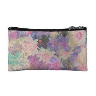 elegante Blume Blumenmuster-Kosmetiktasche Makeup-Tasche