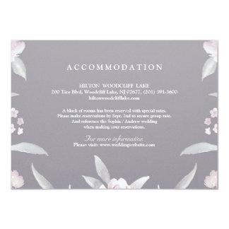 Elegante Blumenchinoiserie-Hochzeitsanpassung 11,4 X 15,9 Cm Einladungskarte