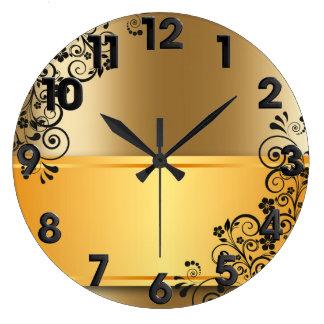 Elegante Blumendekoration Uhren