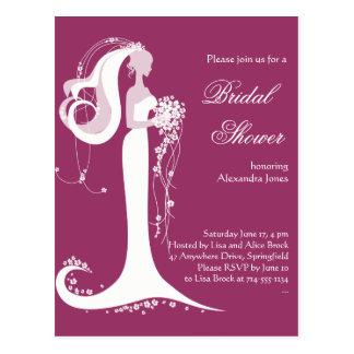 Elegante Braut-Brautparty-Party Einladung 3 Postkarte