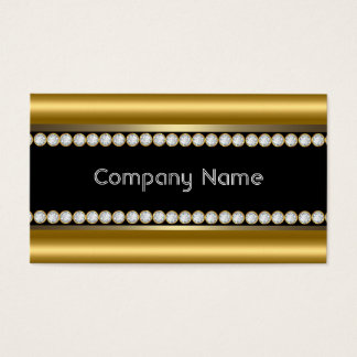 Elegante Bronzegoldschwarzer Diamant-Ordnung Visitenkarte