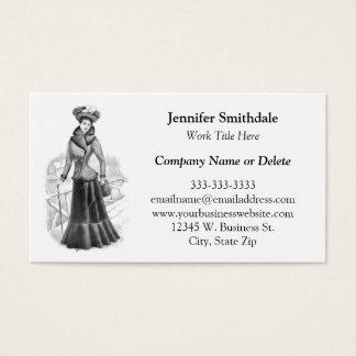Elegante Dame Vintage Womens Fashion Consignment Visitenkarte