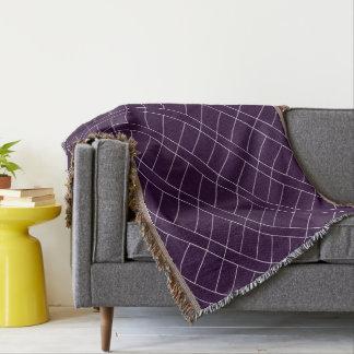 Elegante diagonale weiße Linien Muster Decke