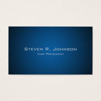 Elegante dunkelblaue Ombre Visitenkarte