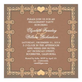 elegante Entwurfs-Verlobungs-Party Einladungen