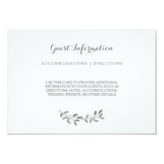 Elegante Eukalyptus-Hochzeits-Reihen-Einsatz-Karte Karte